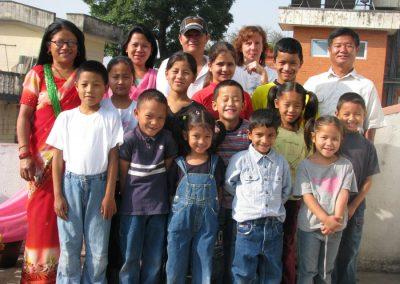 Kinder mit Betreuern