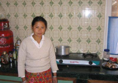 Maili in der Küche